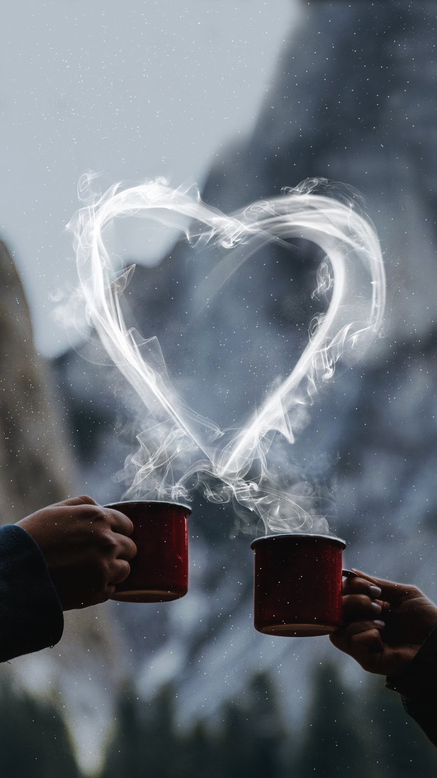 Snow, Coffee, Love Wallpapers Free Download