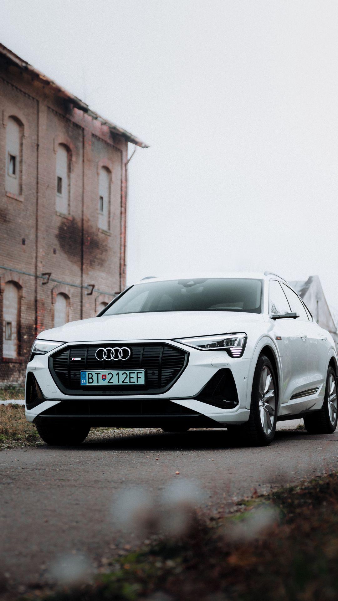 Audi White Car HD Wallpapers Free Download