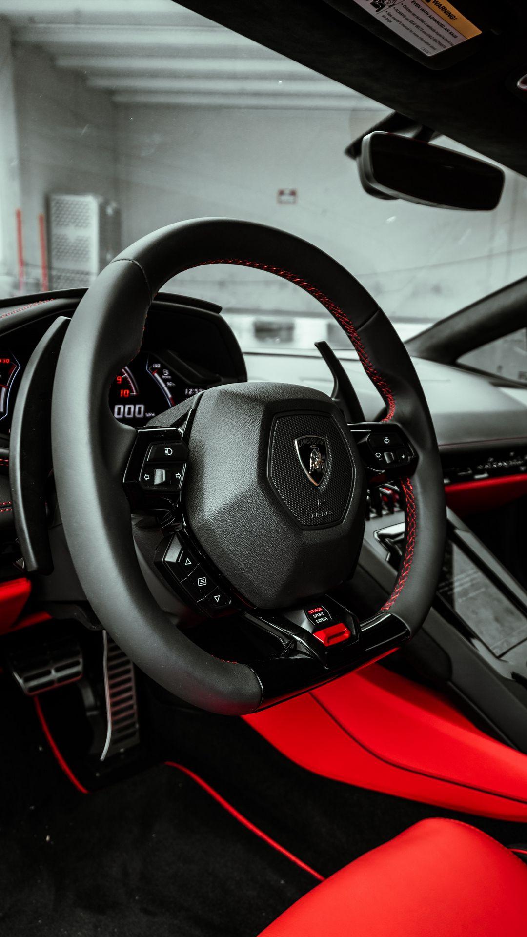 Full HD Lamborghini Car Steering Wallpapers Free Download