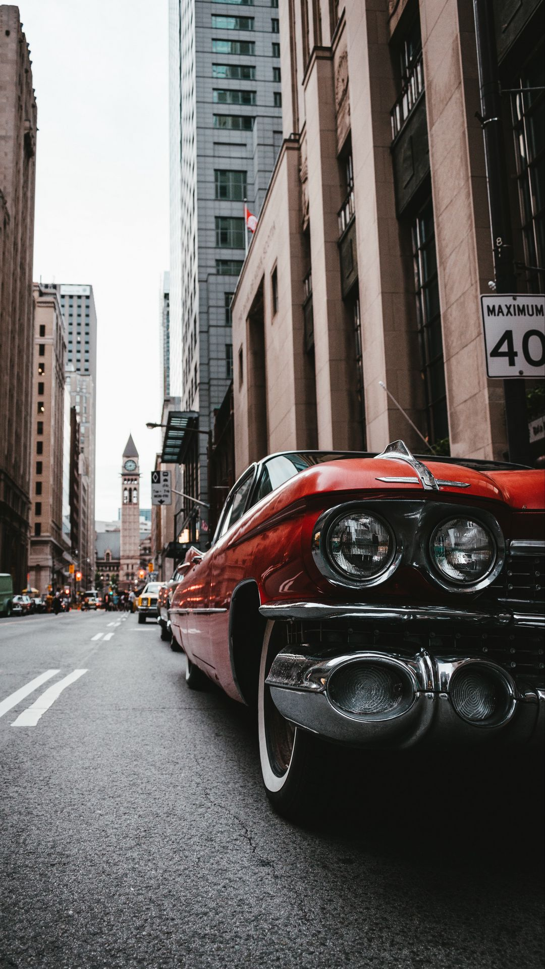 Old Car Street Wallpapers Free Download for Mobile