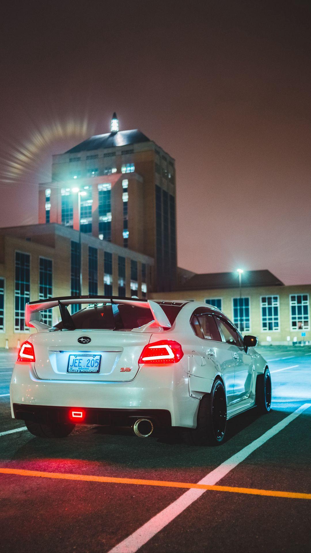 Subaru Sti Car Background Wallpapers Download