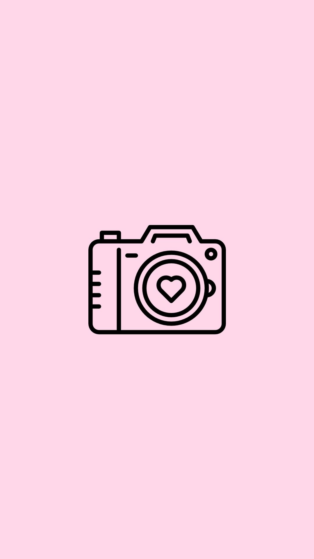 Camera Pink Icon Aesthetic Wallpapers Free Download